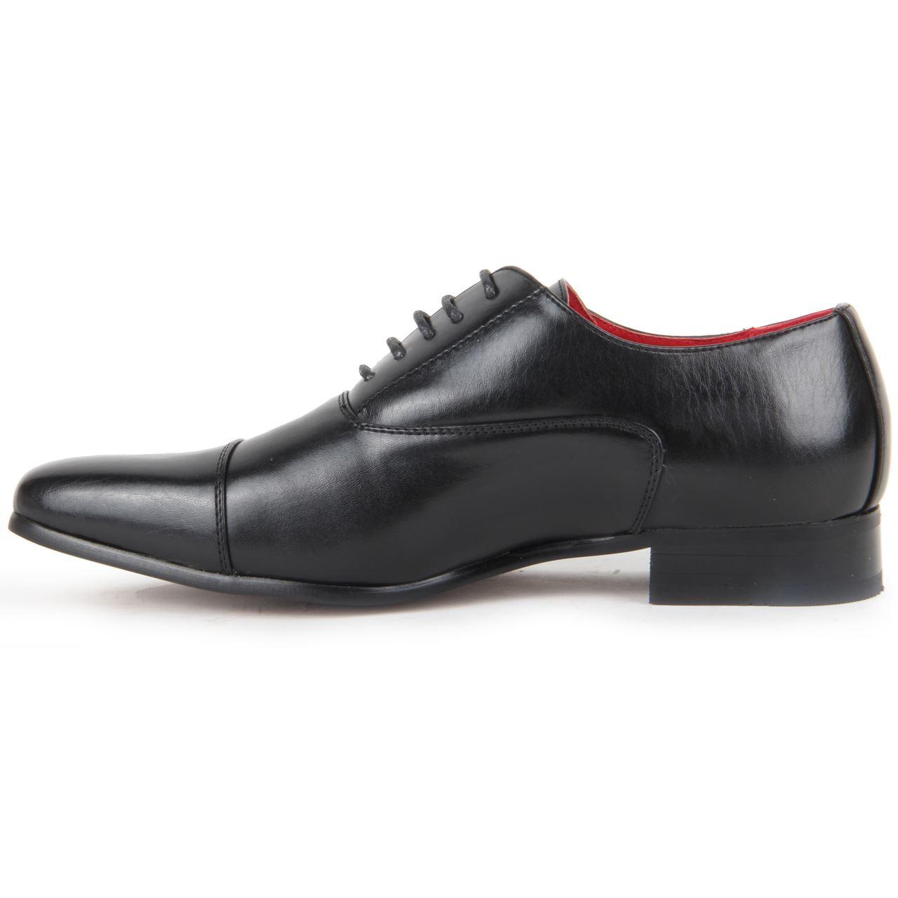 Hombres-Con-Cordones-tope-punta-piel-autentica-Ganster-Forro-Elegante-ESPECTADOR