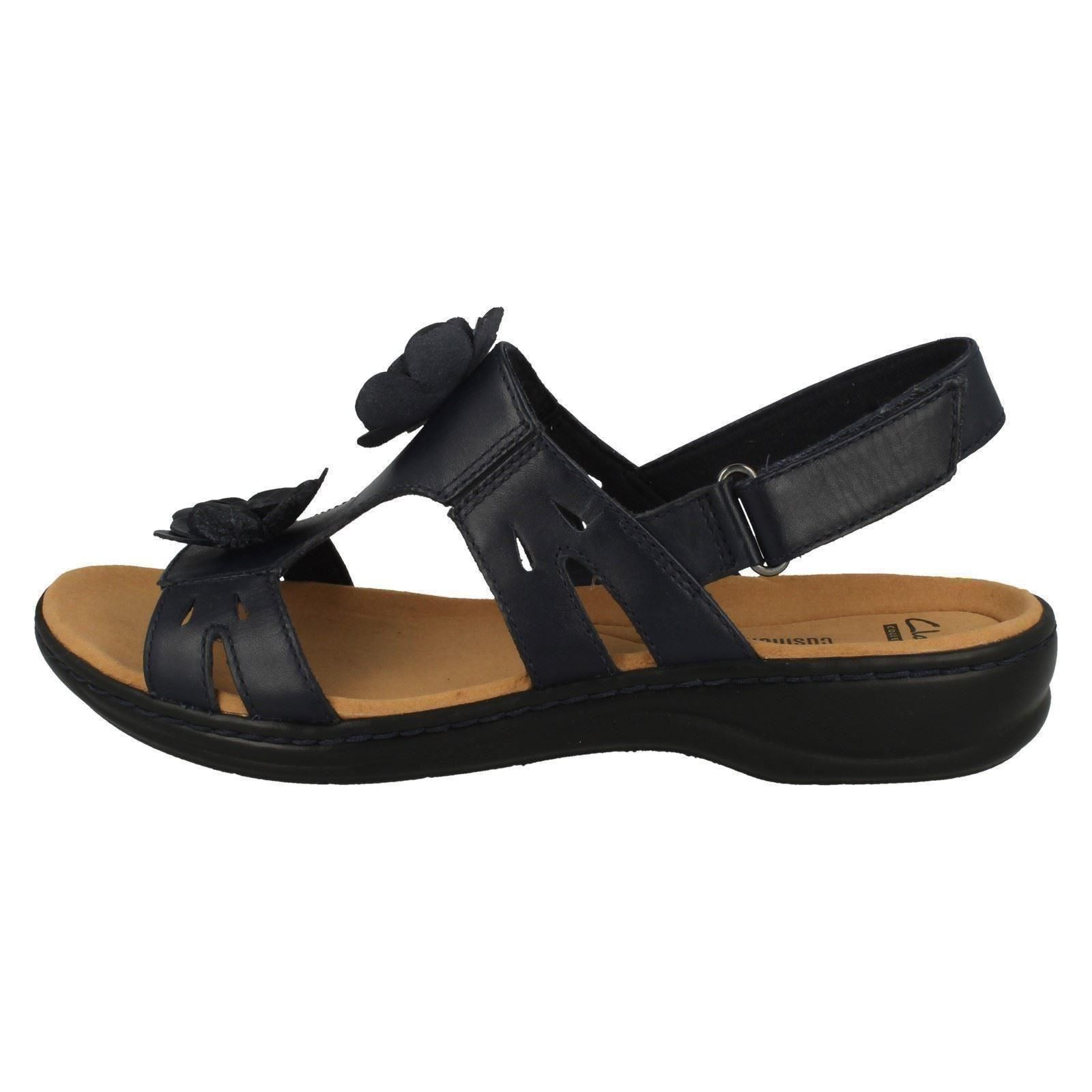 Ladies Clarks Leisa Claytin Casual Leather Sandals D Fitting