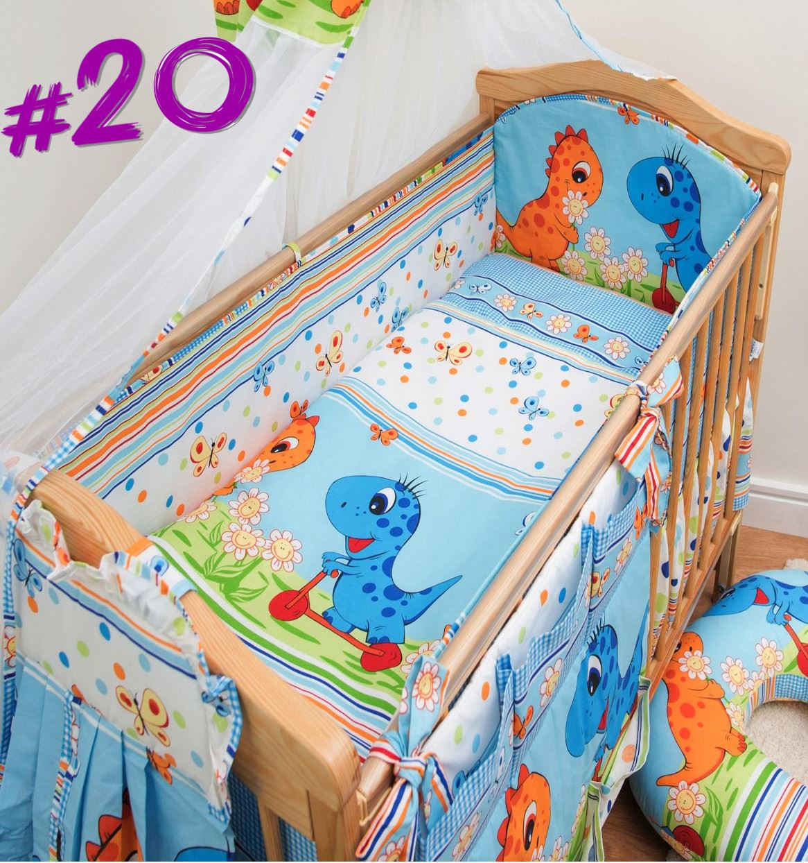 3 teile kinderzimmer gitterbett baby bettw sche set mit for Kinderzimmer set baby