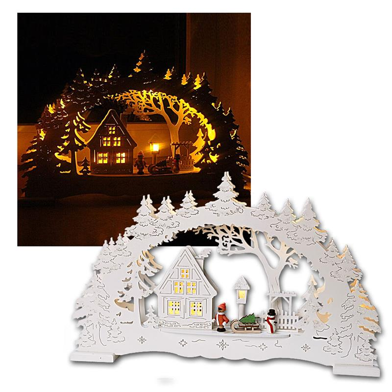 Led candle arches illuminated arch wood window chandelier leds warm white ebay - Appealing christmas led candles for christmas decorations ...