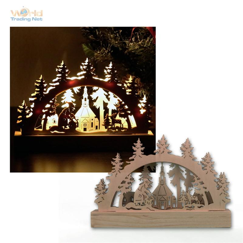 Led candle arches illuminated arch wood window chandelier for Christmas arch diy