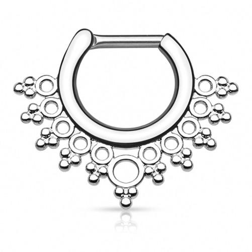 SEPTUM-CLICKER-Placa-Piercing-de-Nariz-Anillo-Lacey-diseno-Helice-Daith-Oreja