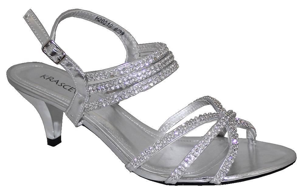 Silver Low Heel Shoes Ebay