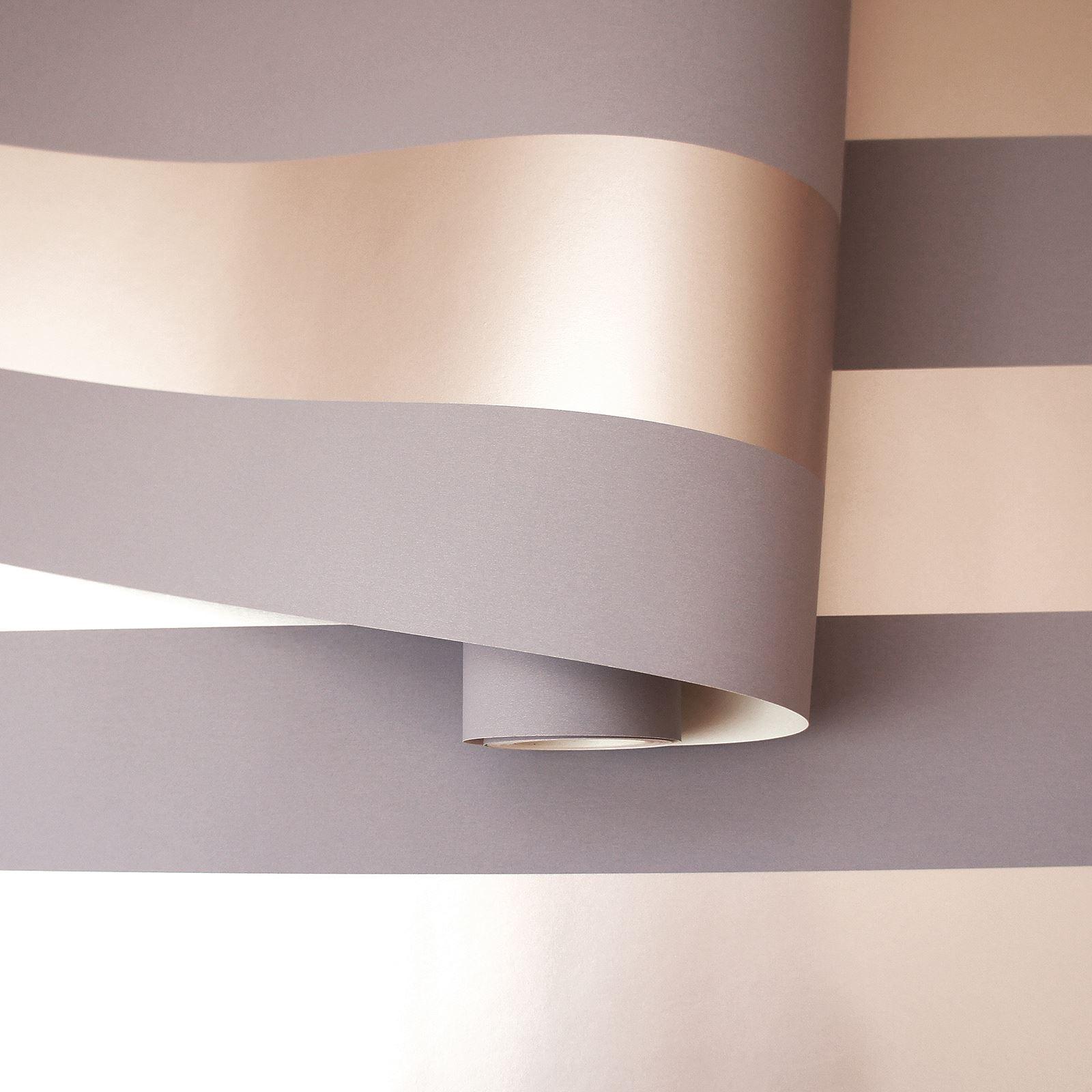 Rotgold-Tapete-Grau-Creme-Exotisch-Blumen-Tropisch-Palme-Blaetter-Geometrisch Indexbild 20