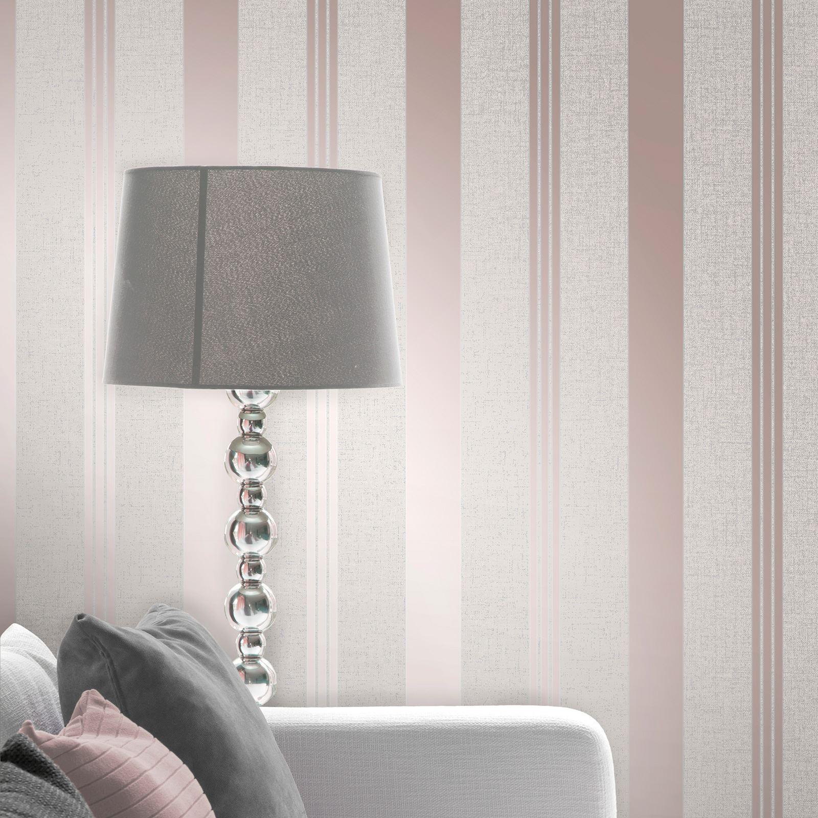 Rotgold-Tapete-Grau-Creme-Exotisch-Blumen-Tropisch-Palme-Blaetter-Geometrisch Indexbild 60