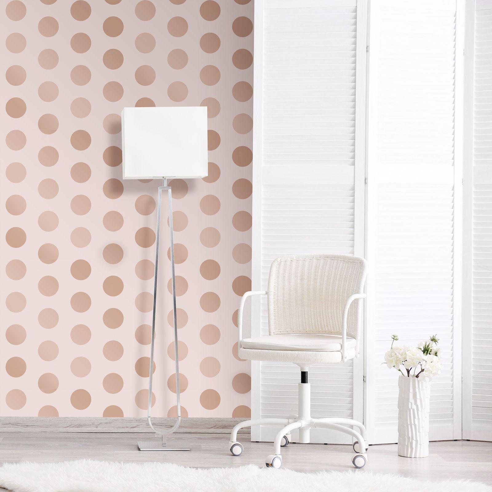 Rotgold-Tapete-Grau-Creme-Exotisch-Blumen-Tropisch-Palme-Blaetter-Geometrisch Indexbild 12