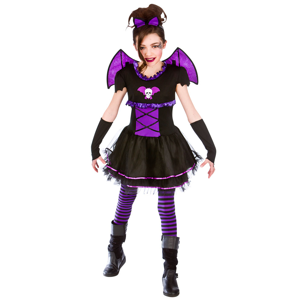 batty fledermaus ballerina m dchen vampir kost m kinder halloween kinder outfit ebay. Black Bedroom Furniture Sets. Home Design Ideas