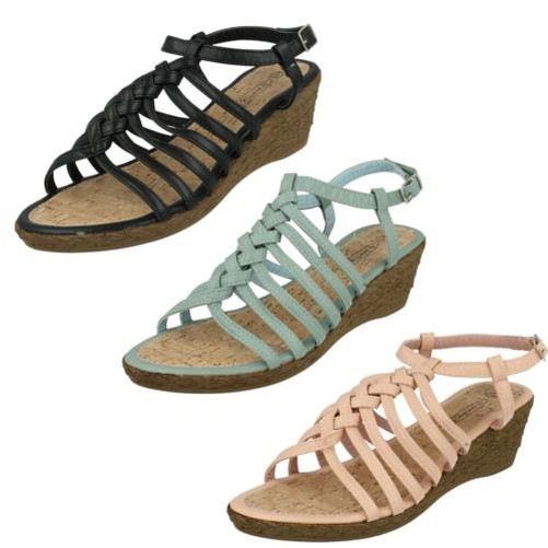 Gentleman/Lady Ladies Spot On Global - Wedge Sandals High-quality Clearance Global On sales 55ea8e