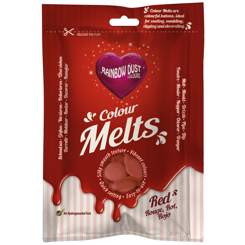 2-x-Rainbow-Dust-COULEUR-fondre-fondant-Friandise-au-chocolat-meilleur-AVANT-fin