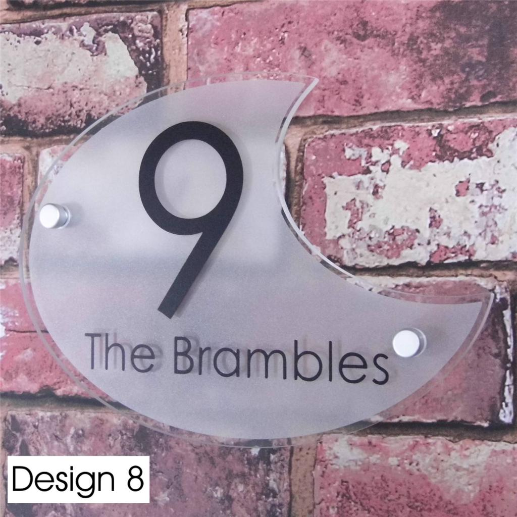 moderne signe num ro de porte maison rue adresse plaque effect verre acrylique ebay. Black Bedroom Furniture Sets. Home Design Ideas