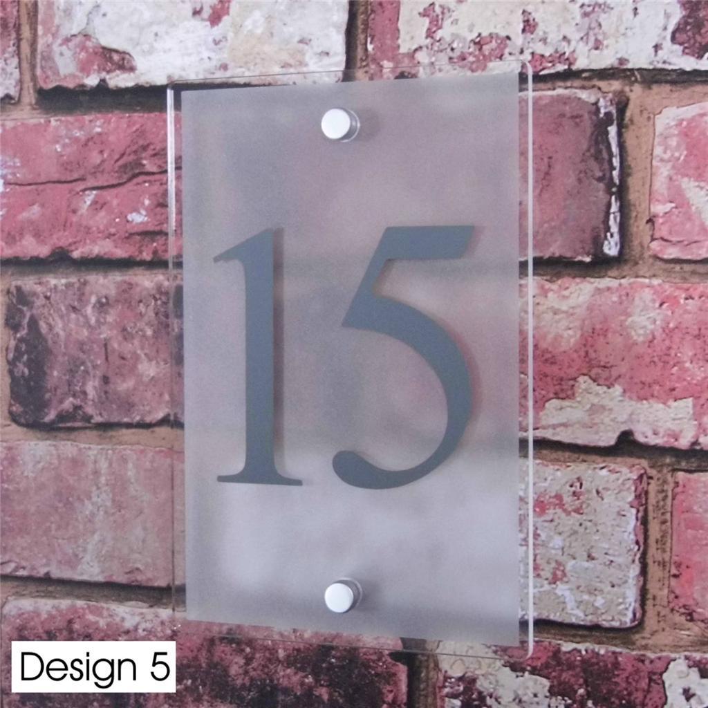 Moderne signe num ro de porte maison rue adresse plaque for Porte moderne