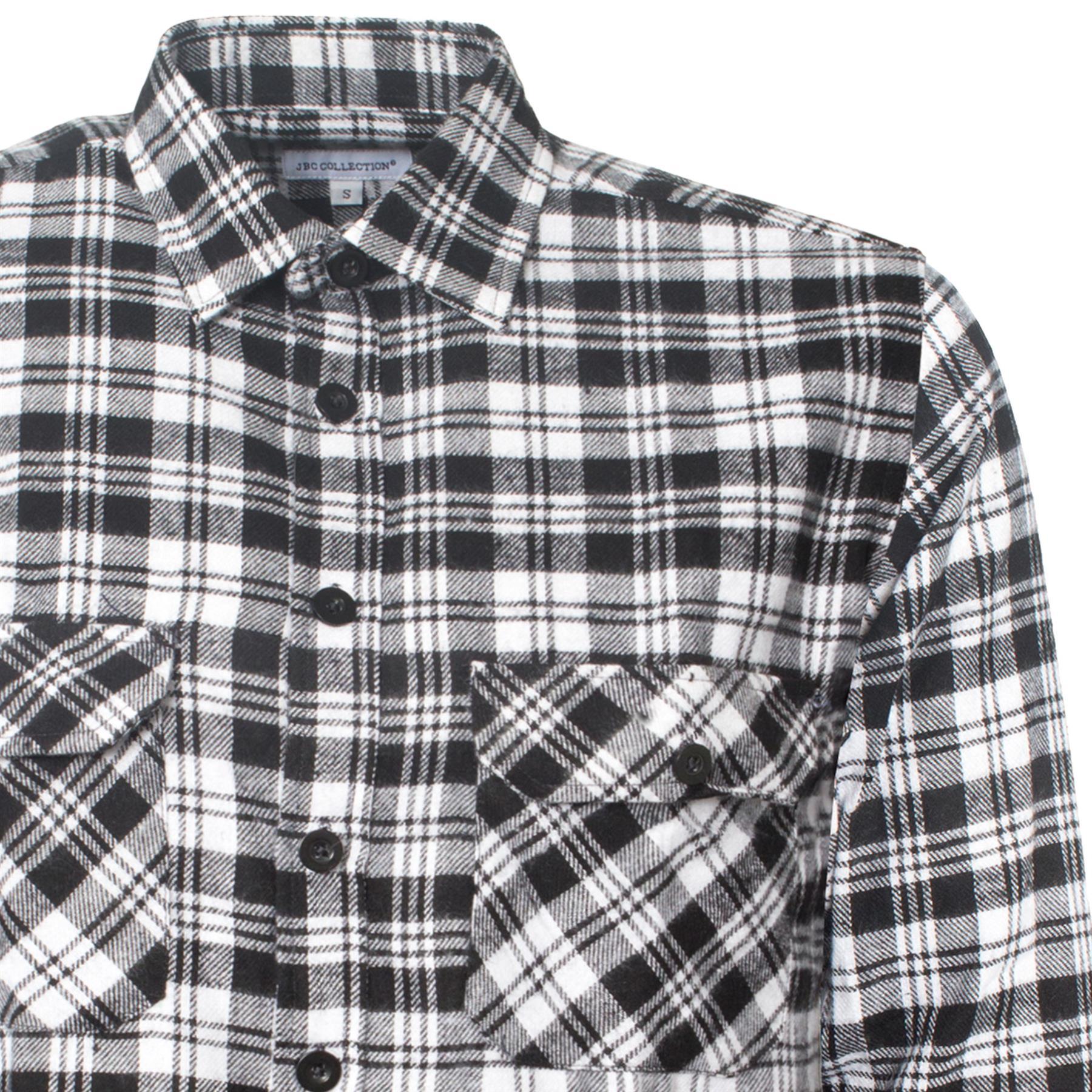 TB Ropa Hombre Camisas De Trabajo De Algod/ón Cepillado Lumberjack Franela De Manga Larga Check Camisa Tejido Material Libre P /& P