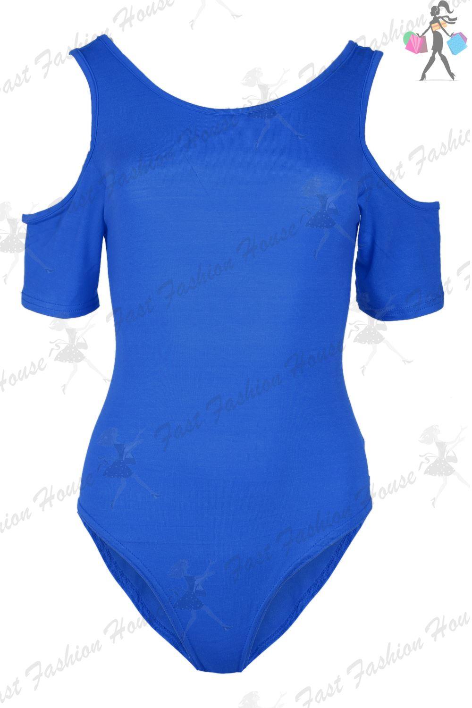 Da-Donna-Tinta-Unita-Da-Ritagliare-Spalle-Scoperte-Slash-Neck-Bardot-Body-Body