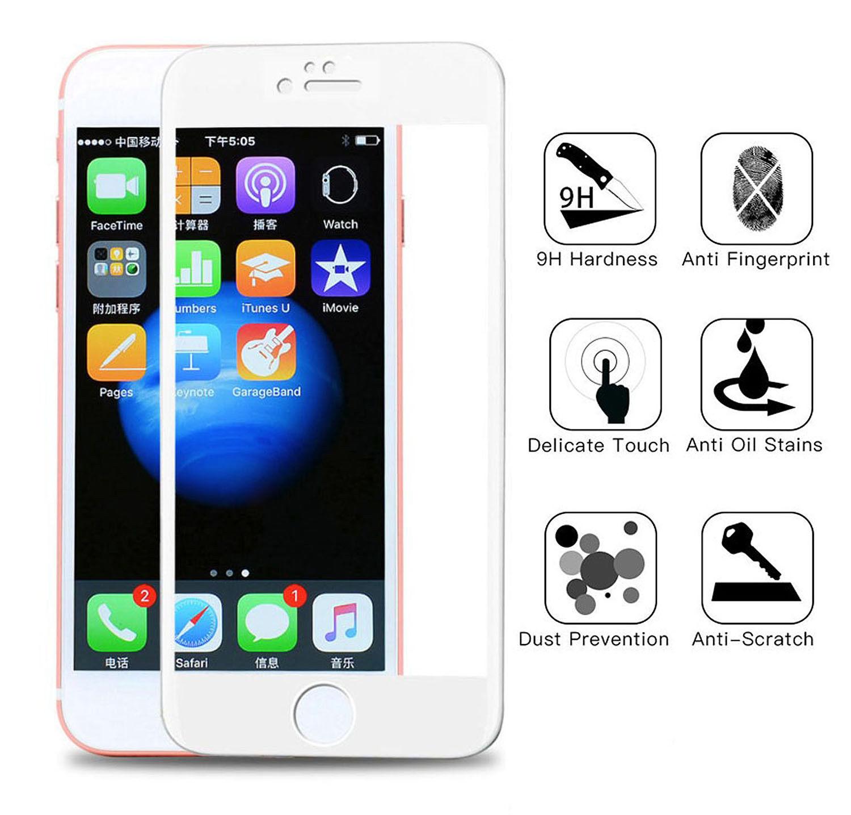Couverture-Complet-Verre-pour-Apple-IPHONE-8-4-7-034-8-Plus-5-5-034-Affichage-Film miniature 23