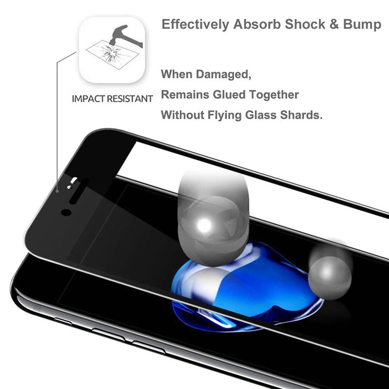 Couverture-Complet-Verre-pour-Apple-IPHONE-8-4-7-034-8-Plus-5-5-034-Affichage-Film miniature 35