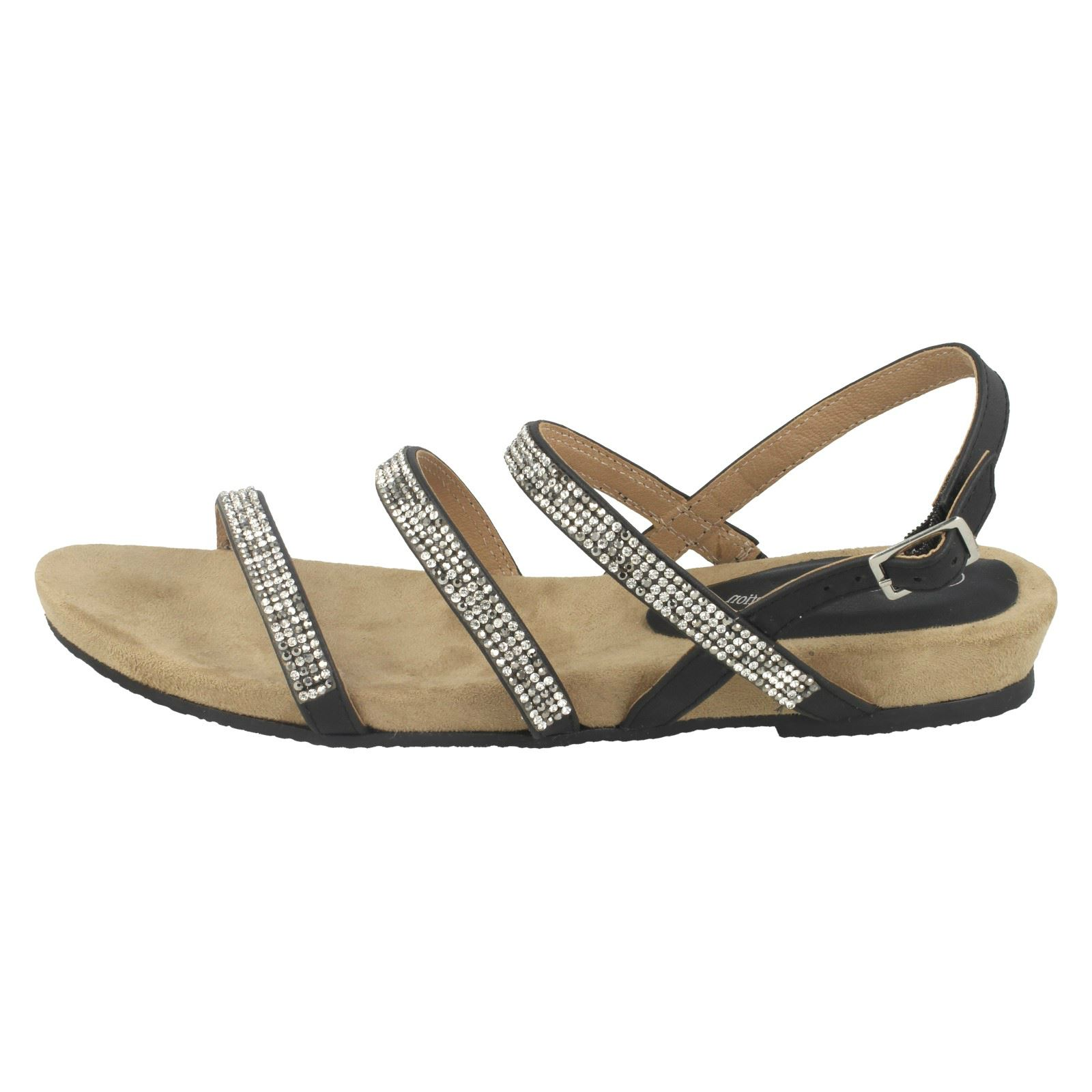 En Tira Mujer Pedrería Leather Tobillo Sandalias Sintético Collection 1xqP6XPY