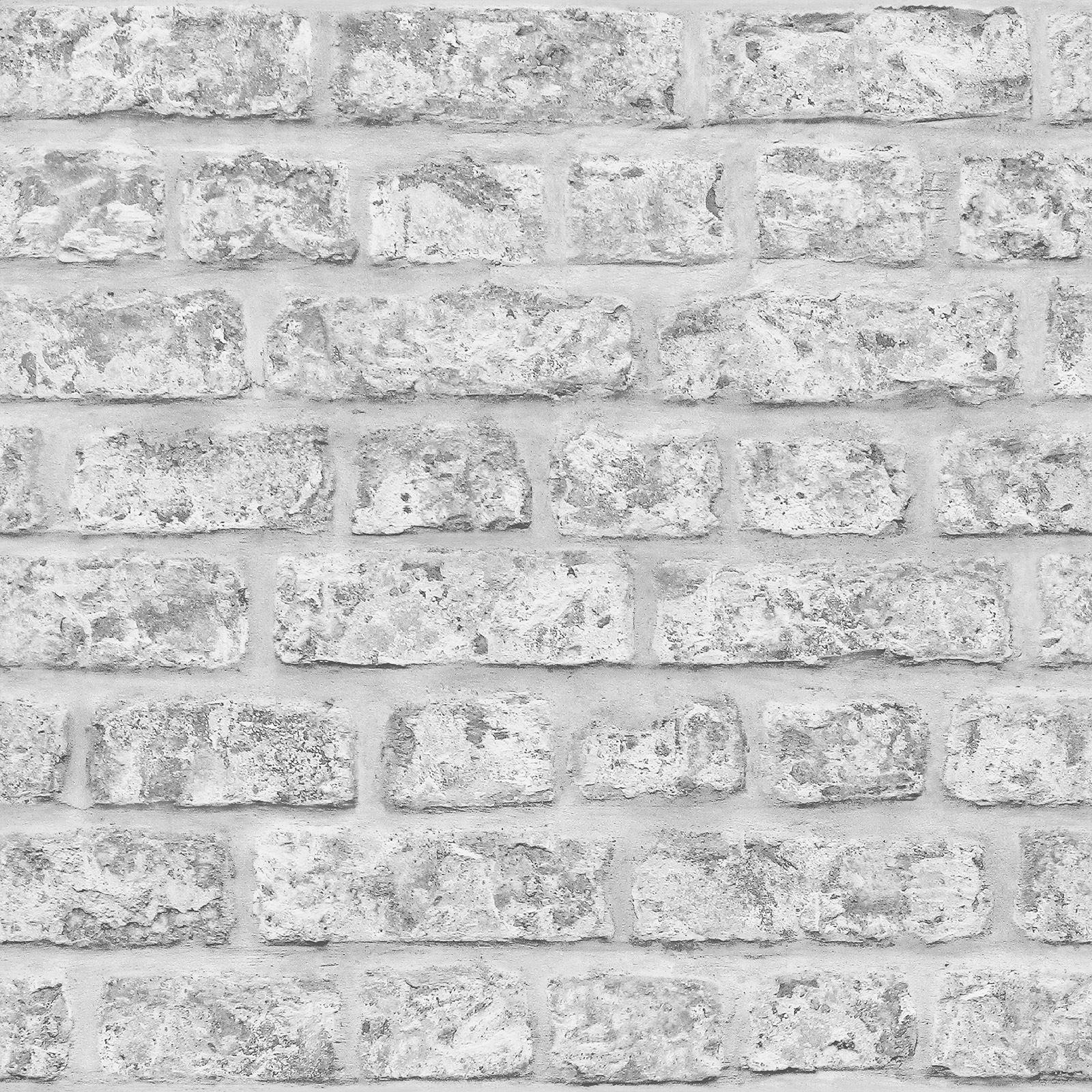 Arthouse Papel Pintado Efecto Ladrillo En Rojo 23006 Blanco  ~ Papel De Pared Imitacion Ladrillo