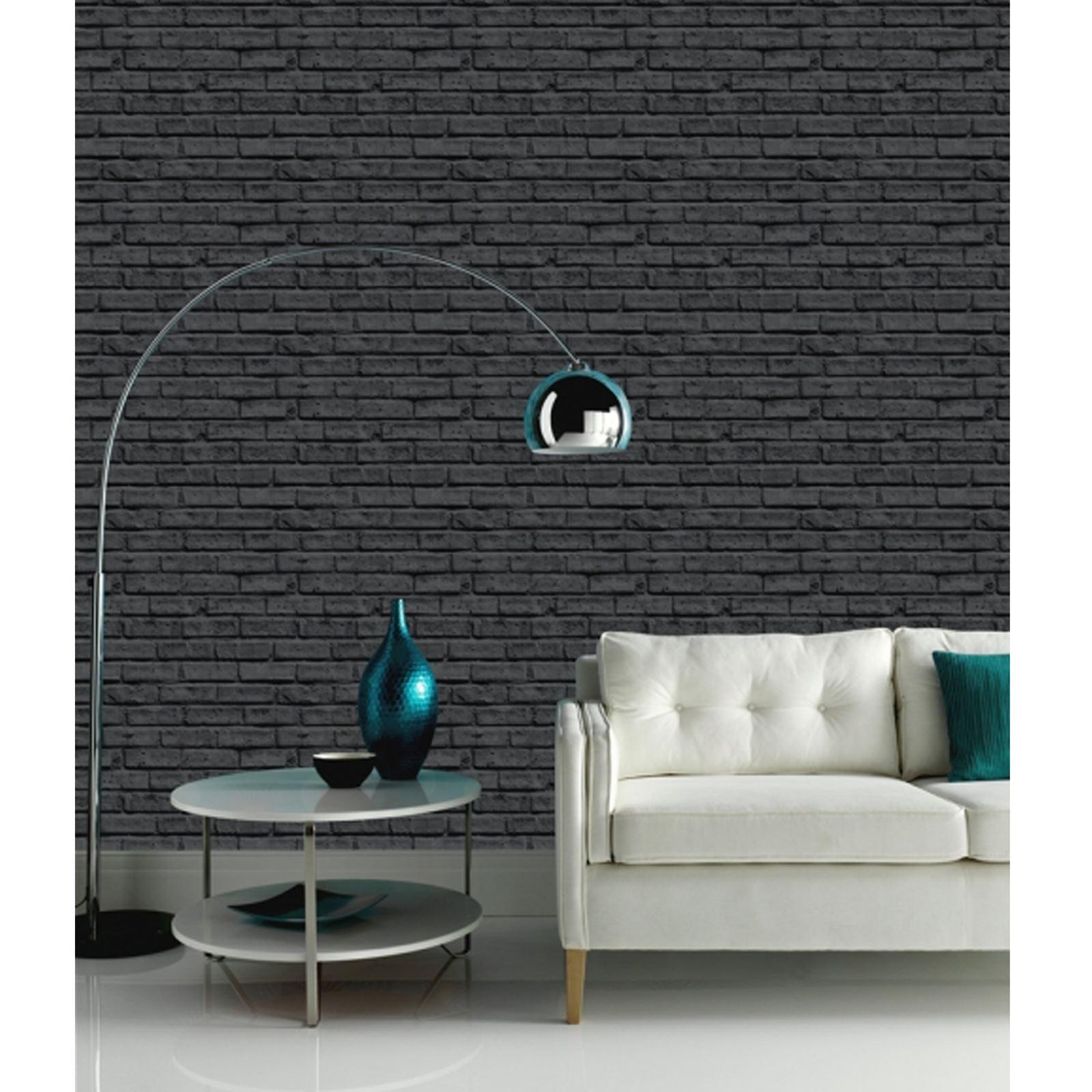 arthouse backsteinoptik tapete rot wei schwarz nat rlicher rosa glitzer ebay. Black Bedroom Furniture Sets. Home Design Ideas