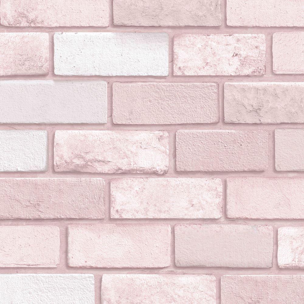 Arthouse Papier Peint Effet Brique Rouge Blanc Noir Naturelle Rose