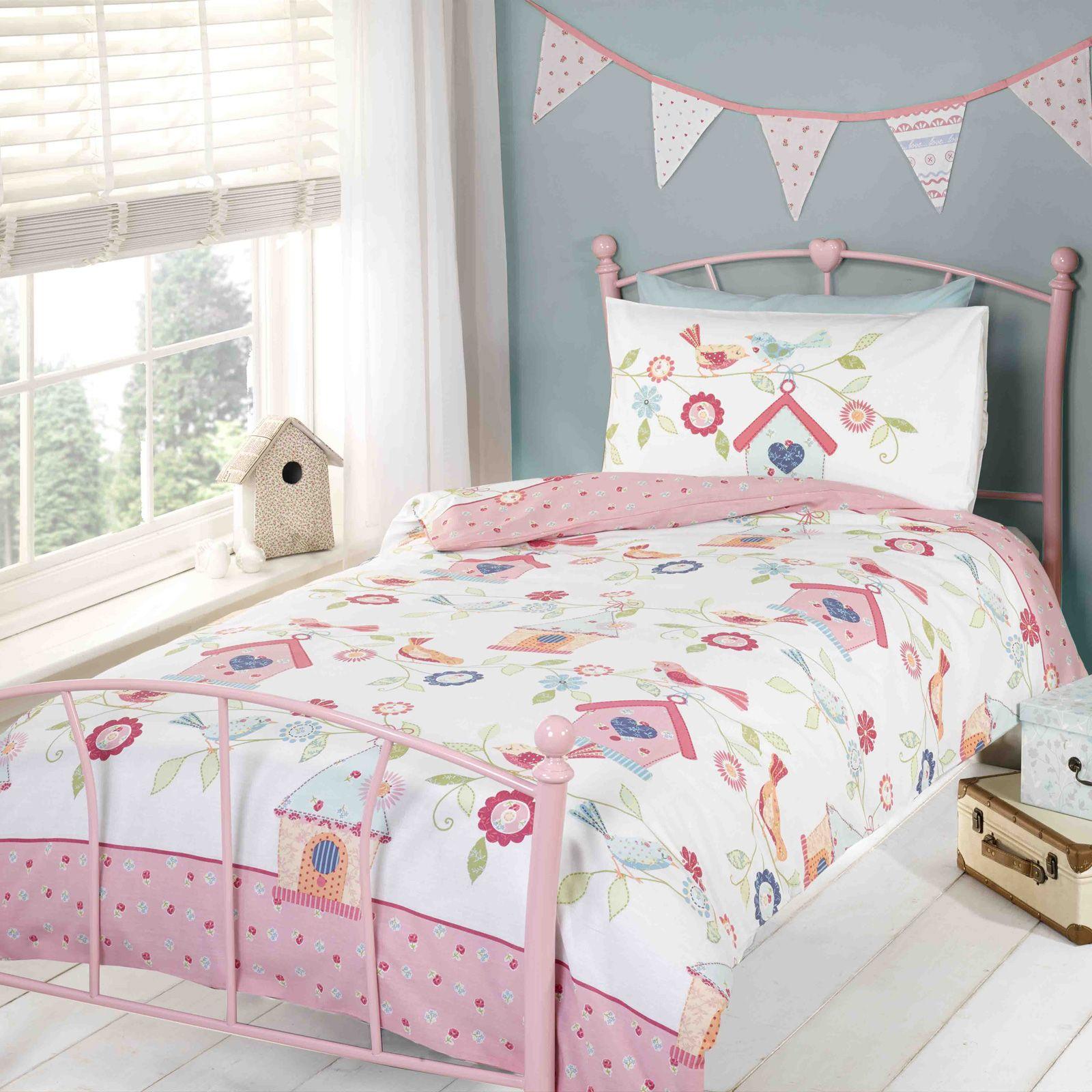 Ragazze copripiumino per letto singolo set biancheria da letto unicorno fiore ebay - Copripiumino letto singolo ...