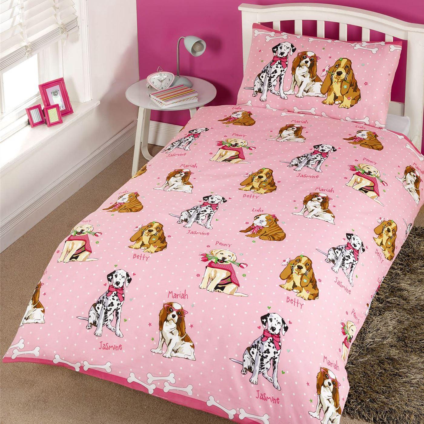 Ni a edred n individual juego de ropa cama unicornio flor for Cama unicornio