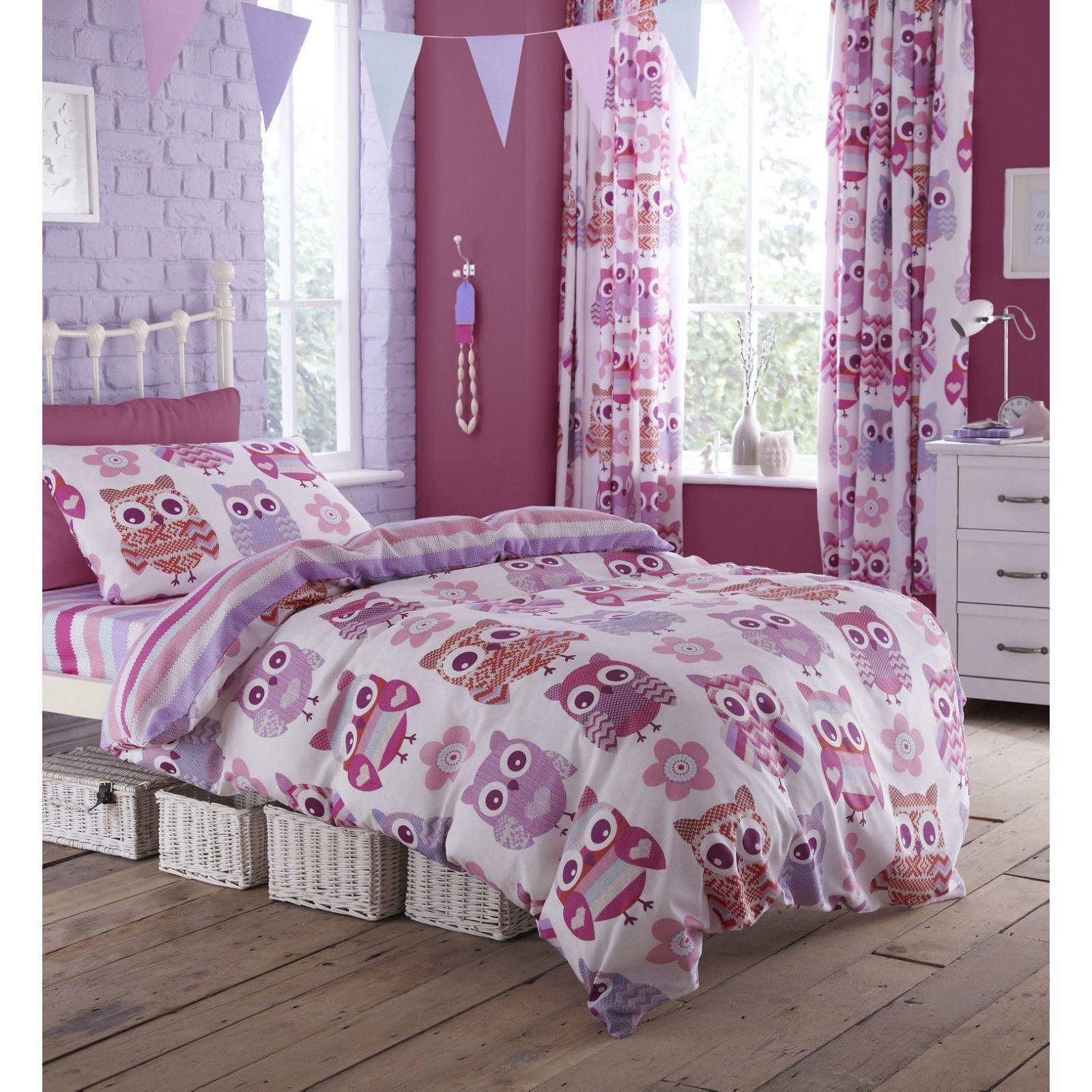 Purple Horse Bedding For Girls - Girls single duvet cover sets bedding unicorn flower