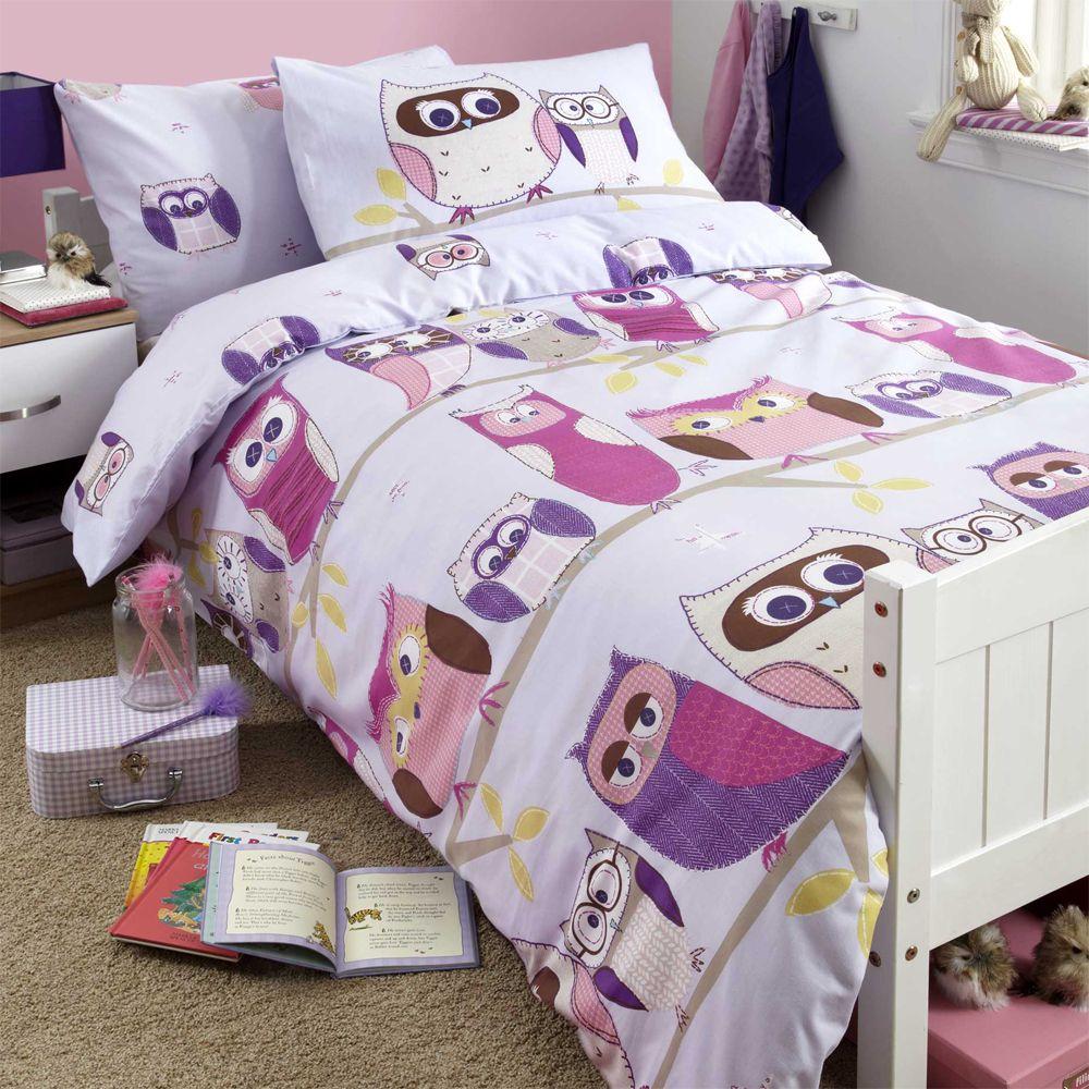ragazze-copripiumino-per-letto-singolo-set-biancheria-da-UNICORNO-FIORE-cavallo