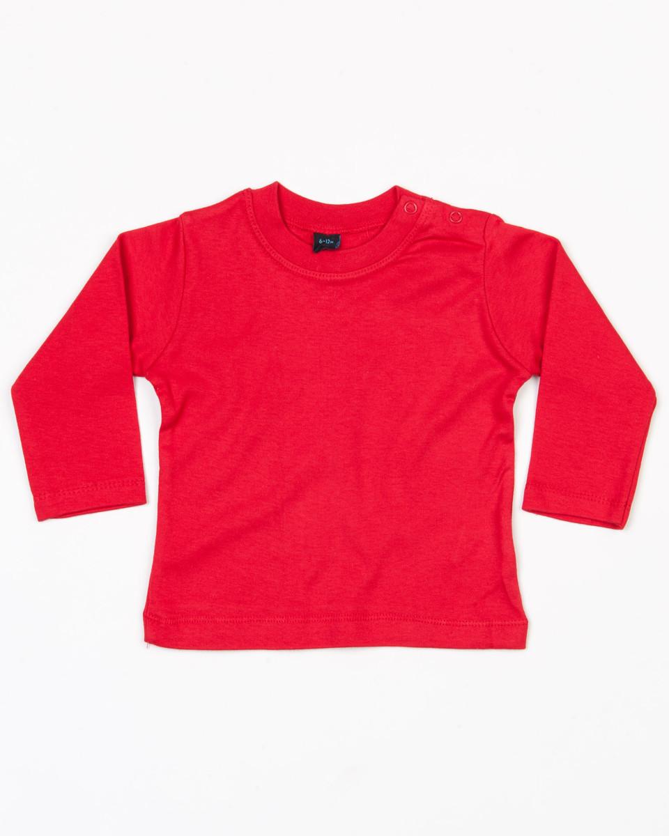 Bebe-Camiseta-de-manga-larga-Liso-100-Algodon-Suave-Colores-Nino-Nina-Regalo