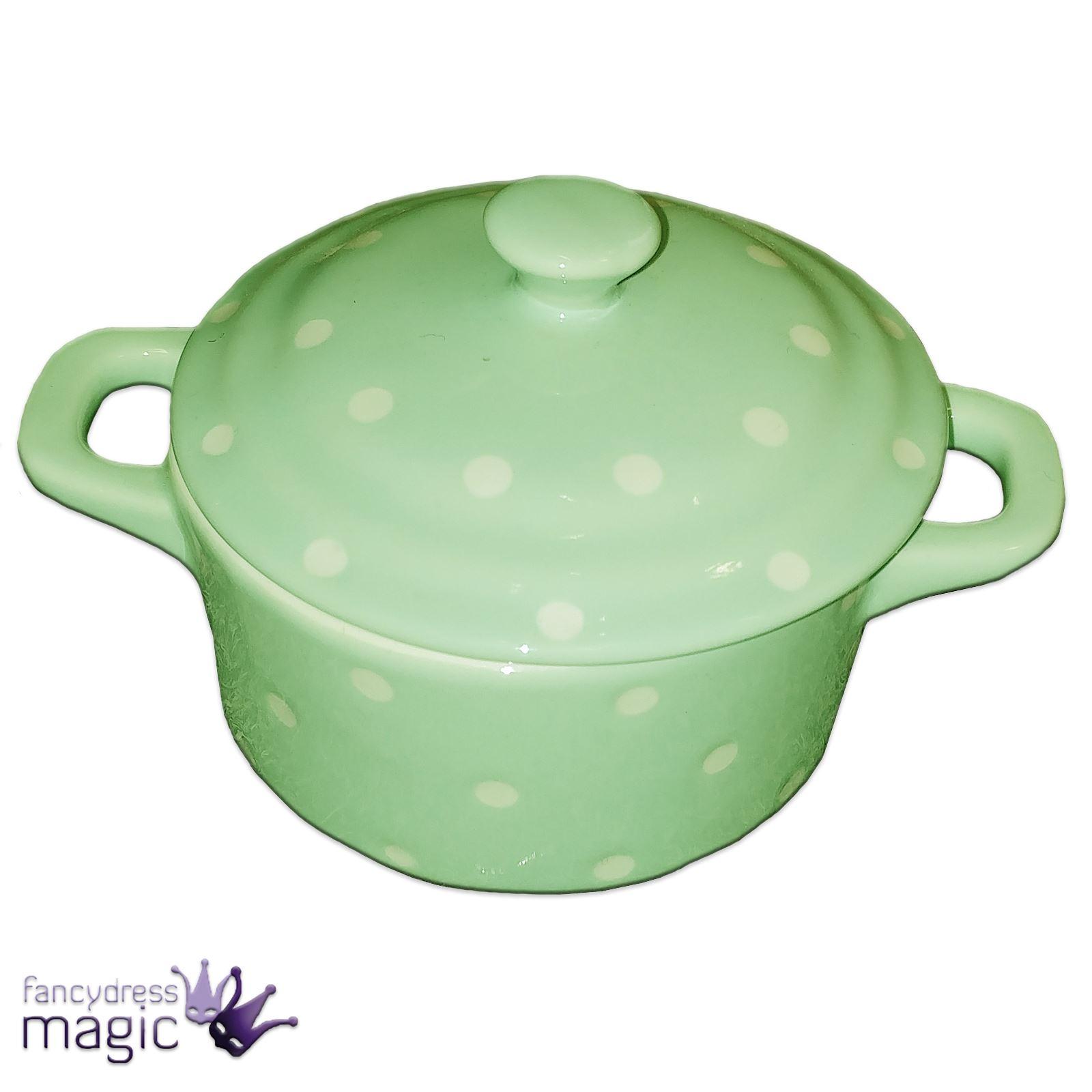 Gisela-Graham-Ceramica-pastel-de-topos-Cazuela-plato-amp-Tapa-Retro-Cocina-Hogar