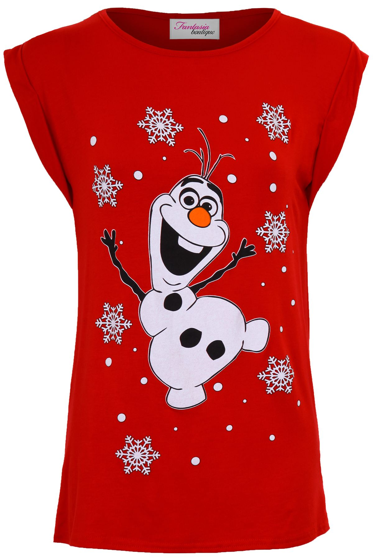 Ladies Olaf Frozen Minion Merry Christmas XMAS Festive Women\'s Top T ...