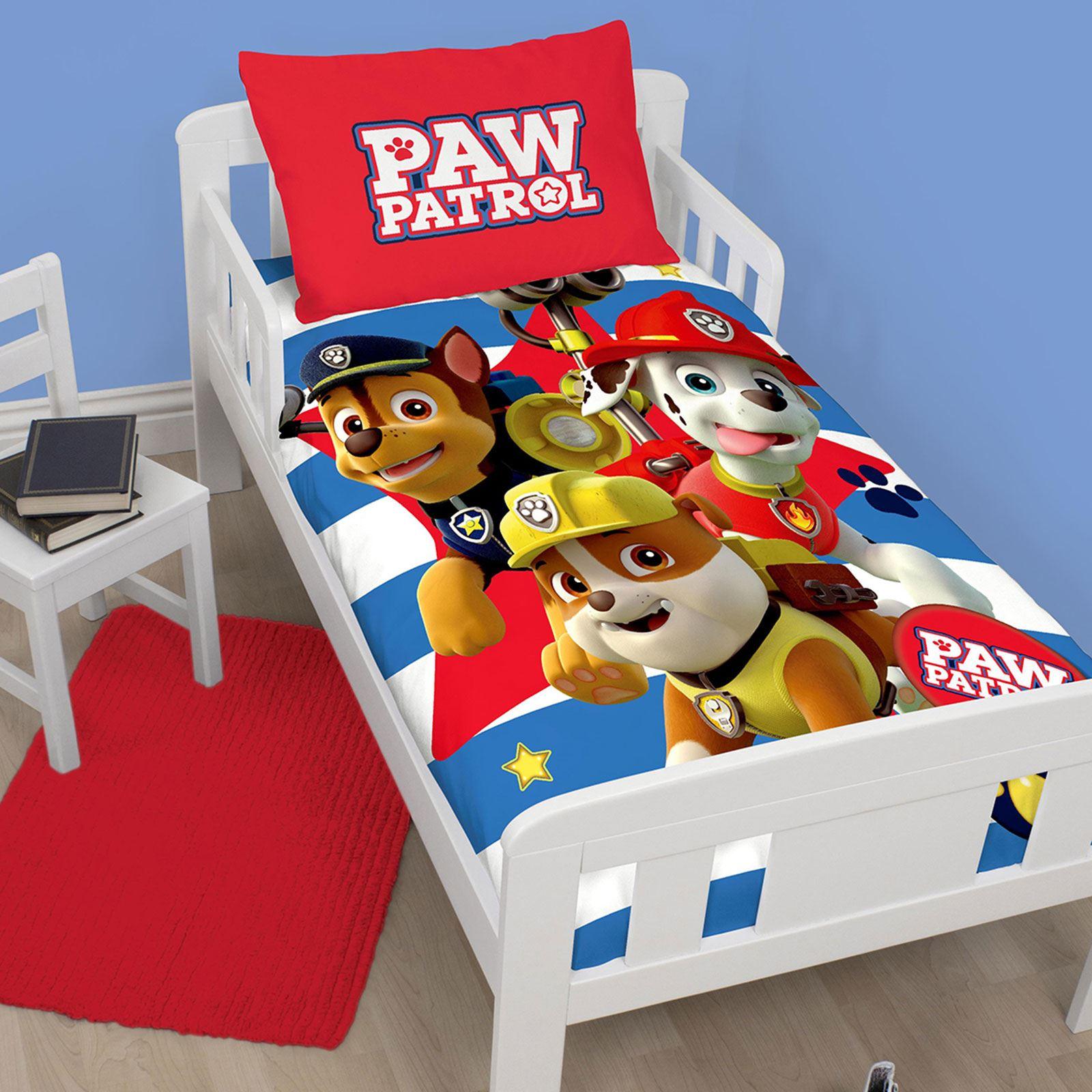 Disney-Personnage-Junior-Panneau-Housse-de-Couette-Ensembles-Paw-Patrol-Marvel