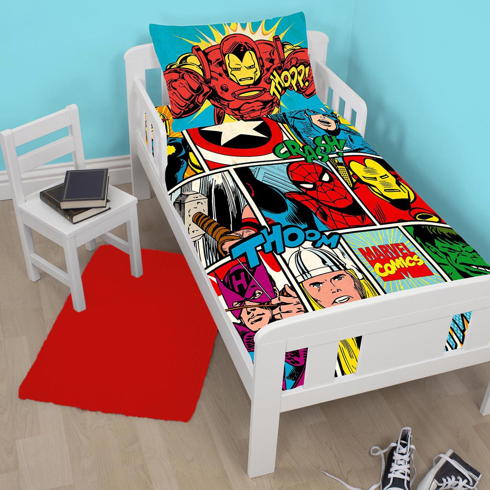 disney personnage junior panneau housse de couette ensembles paw patrol marvel ebay. Black Bedroom Furniture Sets. Home Design Ideas