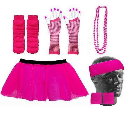 Neon Tutu Rock Fancy Dress & Zubehör Junggesellinnenabschied UV Rabe ...