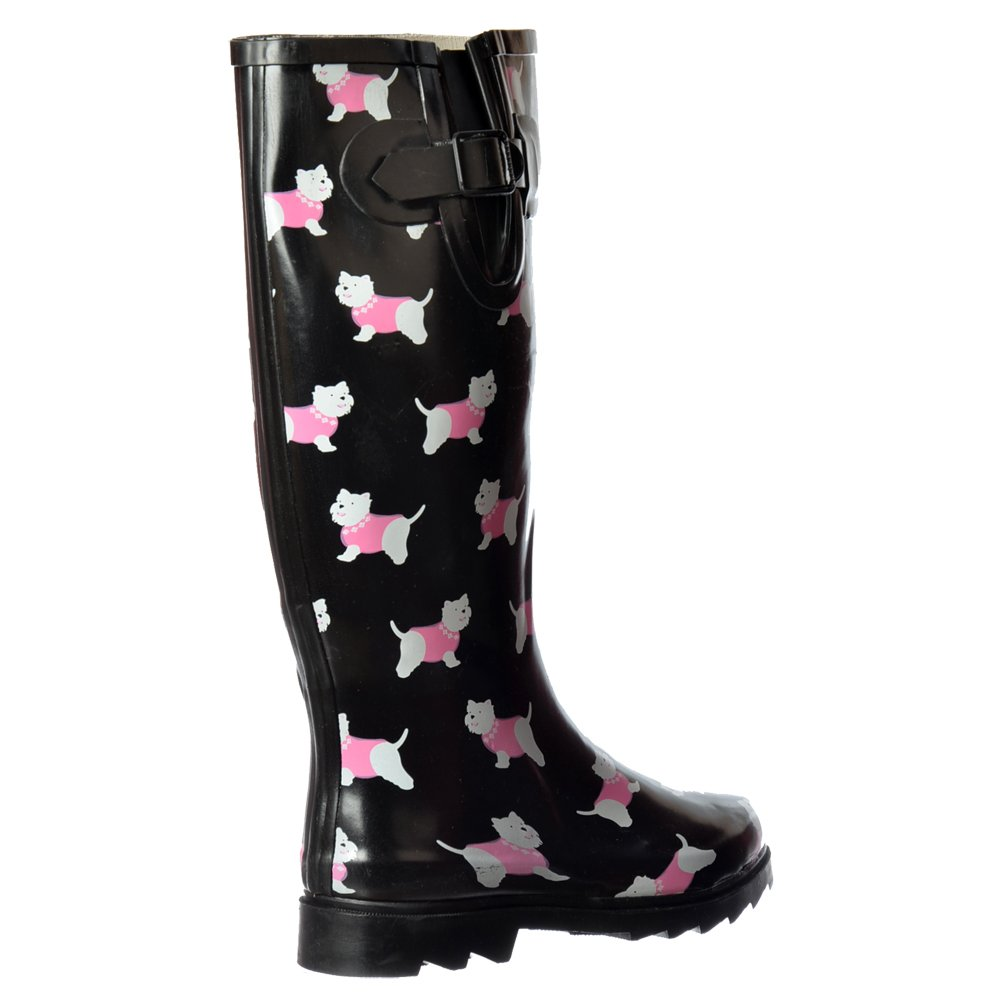 Womens Awesome Flat Rain Boots Wellington Festival Rain Winter Boots