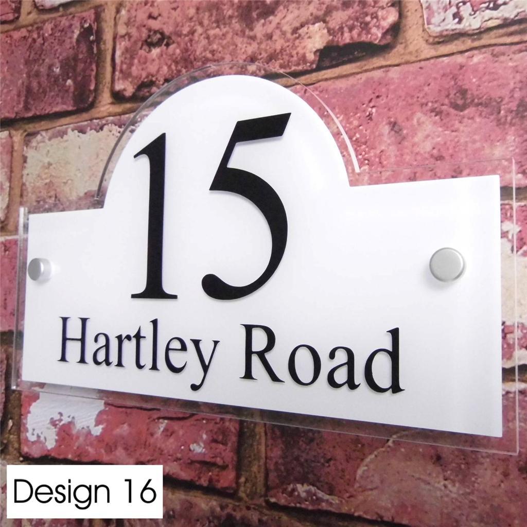 Personnalis signe num ro de porte maison rue adresse plaque verre effet ebay - Numero maison design ...