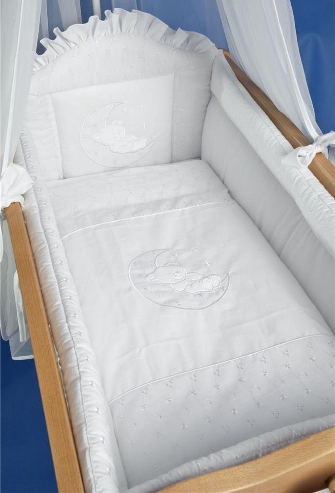 9 piece wiege baby bettw sche set 90 x 40 cm fassungen schwingend schaukelwiege ebay. Black Bedroom Furniture Sets. Home Design Ideas