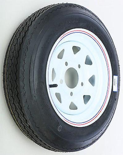 Trlr Tire / Rim Assy 12x4 Weiß 12x4 Assy 5 On 4.5/4.80-12