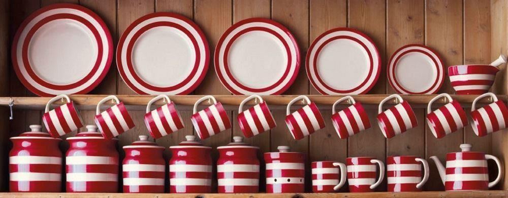 Cornishware Blau oder Rot & Weiß Streifen Streifen Streifen 1 Of oder 2 Pasta Portion Schüsseln 92fec8