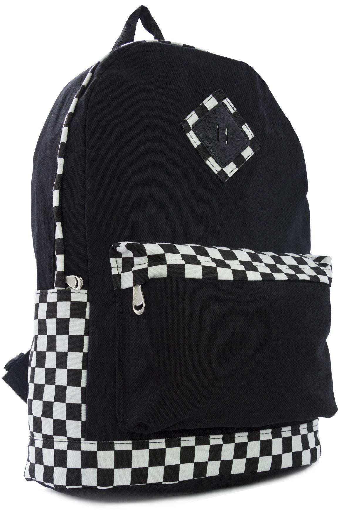 Big Handbag Shop Designer Inspired Trendy Fabric Backpack Ruksack Bag