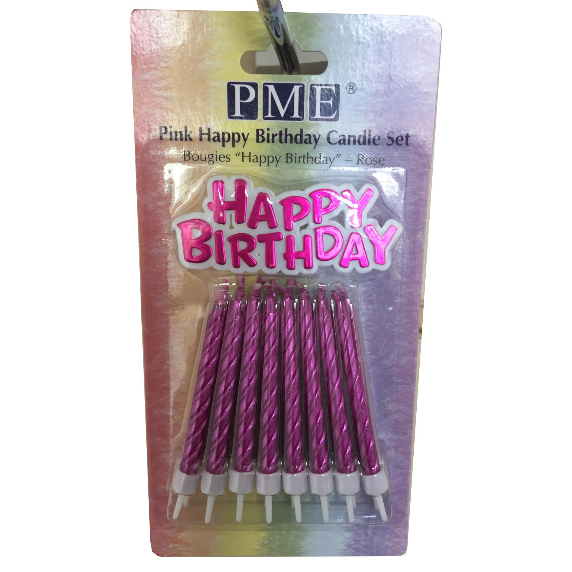 PME-METALLICA-COLORE-Happy-Birthday-PLACCA-E-16-CANDELINE-CON-SUPPORTI-Set