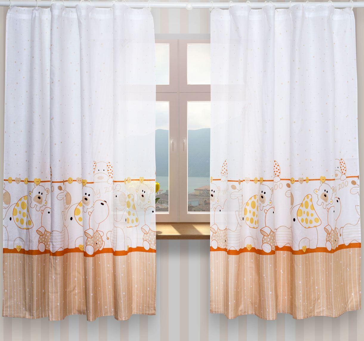 De luxe b b chambre fen tre rideaux en assorti motif pour ebay - Rideaux pour chambre de bebe ...