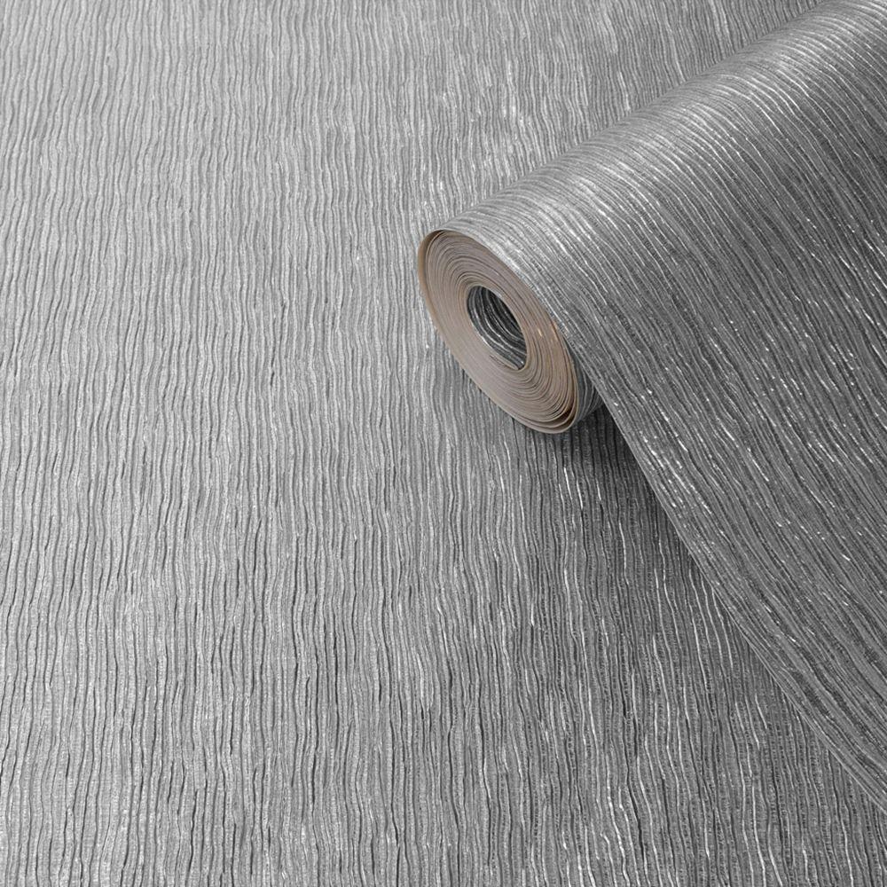 Muriva argento carta da parati glitter luccicanti for Carta parati argento