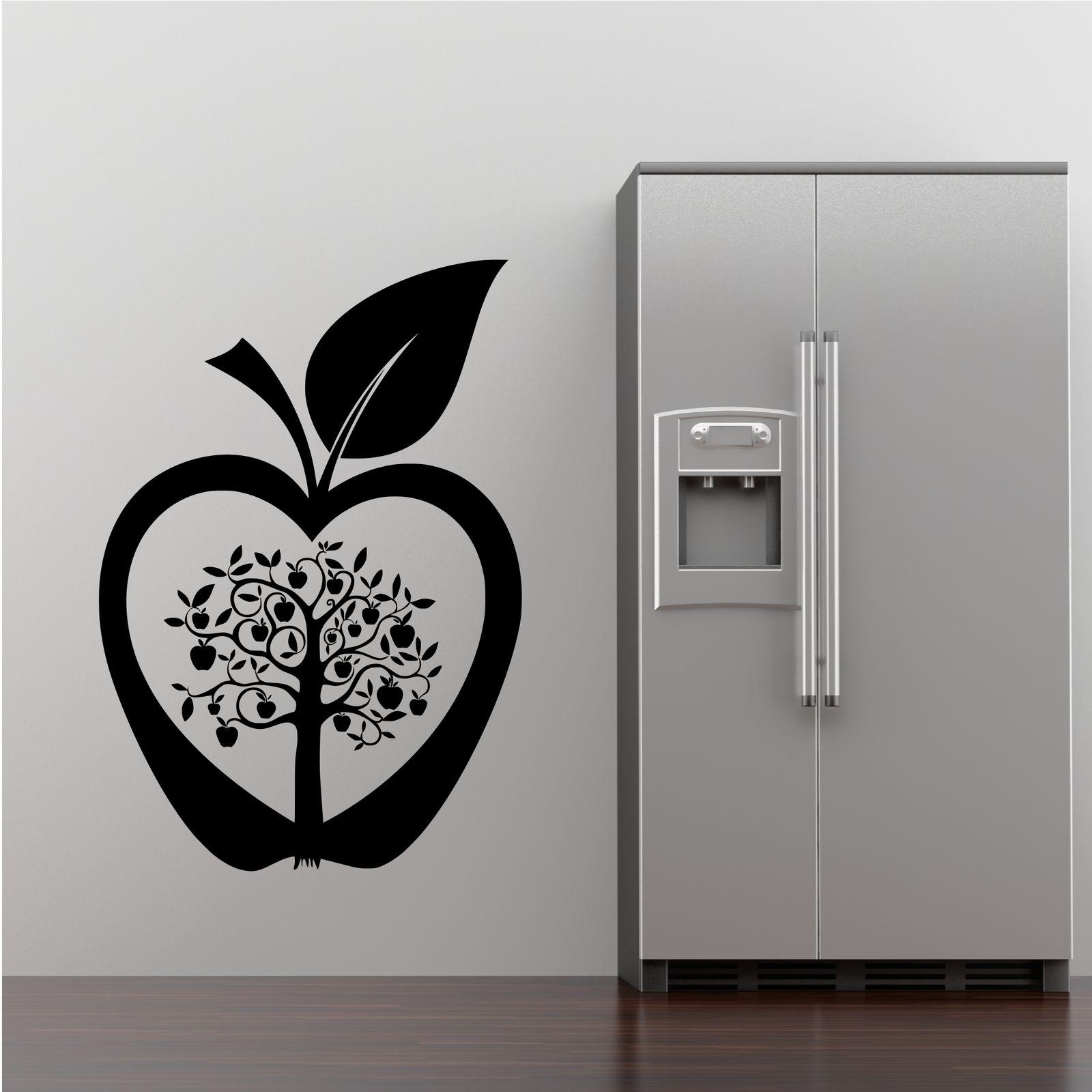 Kitchen apple tree flower modern wall art sticker decal for Modern kitchen wall art