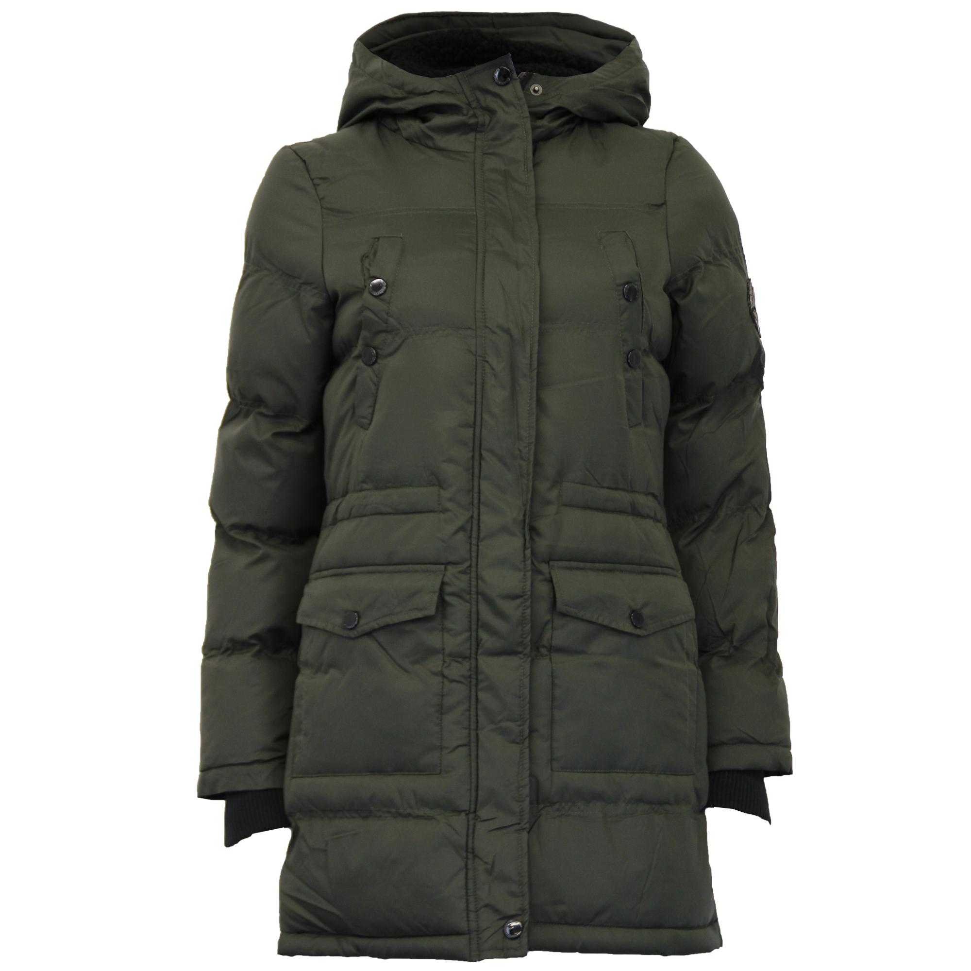 Ladies Jacket Brave Soul Womens Long Coat Sherpa Fleece ...