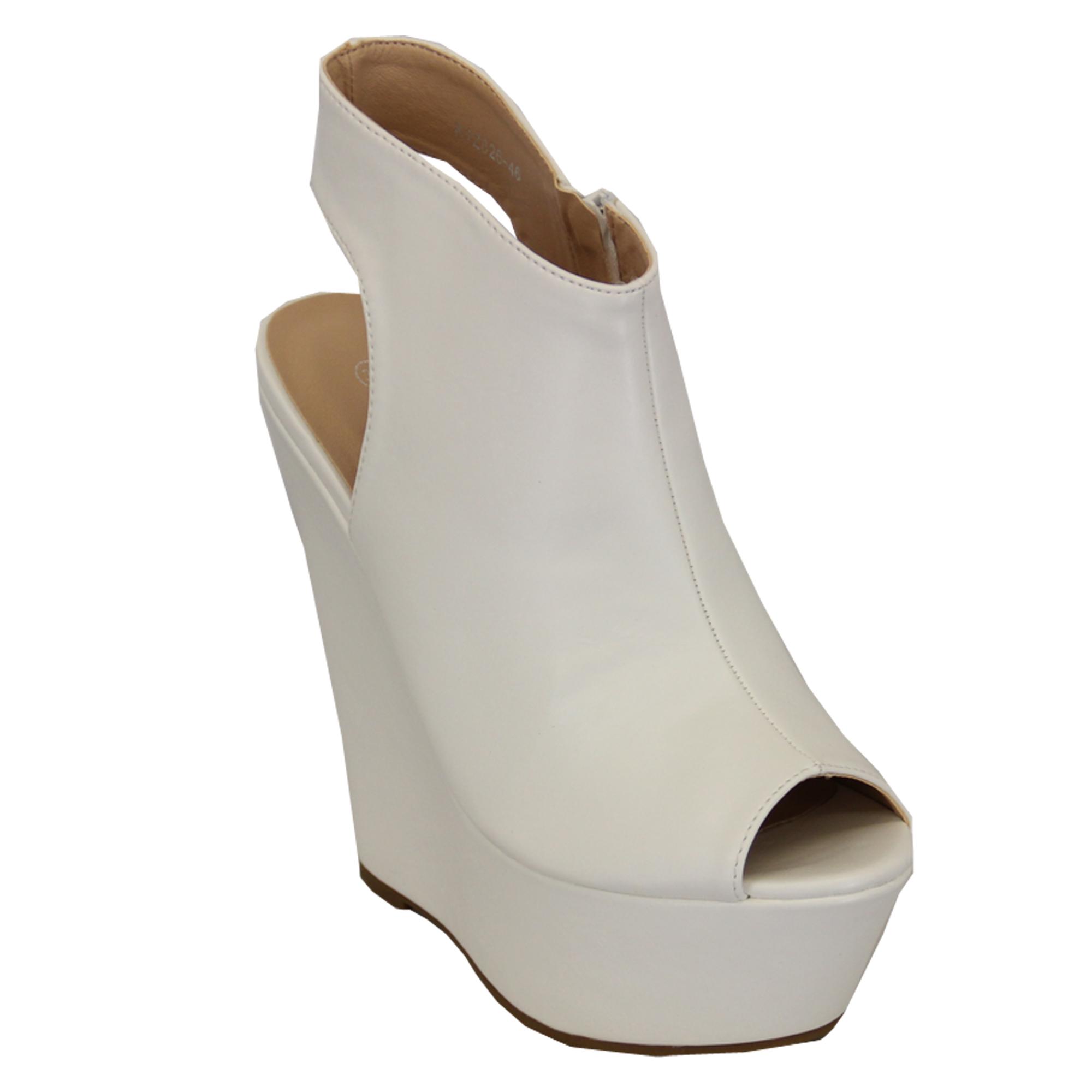 Ladies Wedge Platform Peep Toe Cut Out Sandals Womens High Heel Shoes Summer New