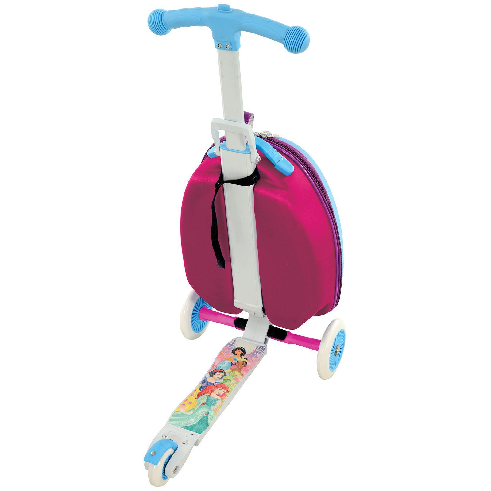 Detalles De Scootin Maleta 3 En 1 Scooter Funda Carrito Princesa Toy Story