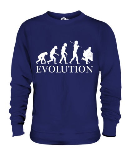 PLUMBER EVOLUTION OF MAN UNISEX SWEATER  Herren Damenschuhe LADIES GIFT PLUMBING