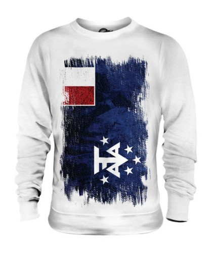 FRENCH SOUTHERN AND ANTARCTIC LANDS GRUNGE FLAG UNISEX SWEATER TOP GIFT SHIRT