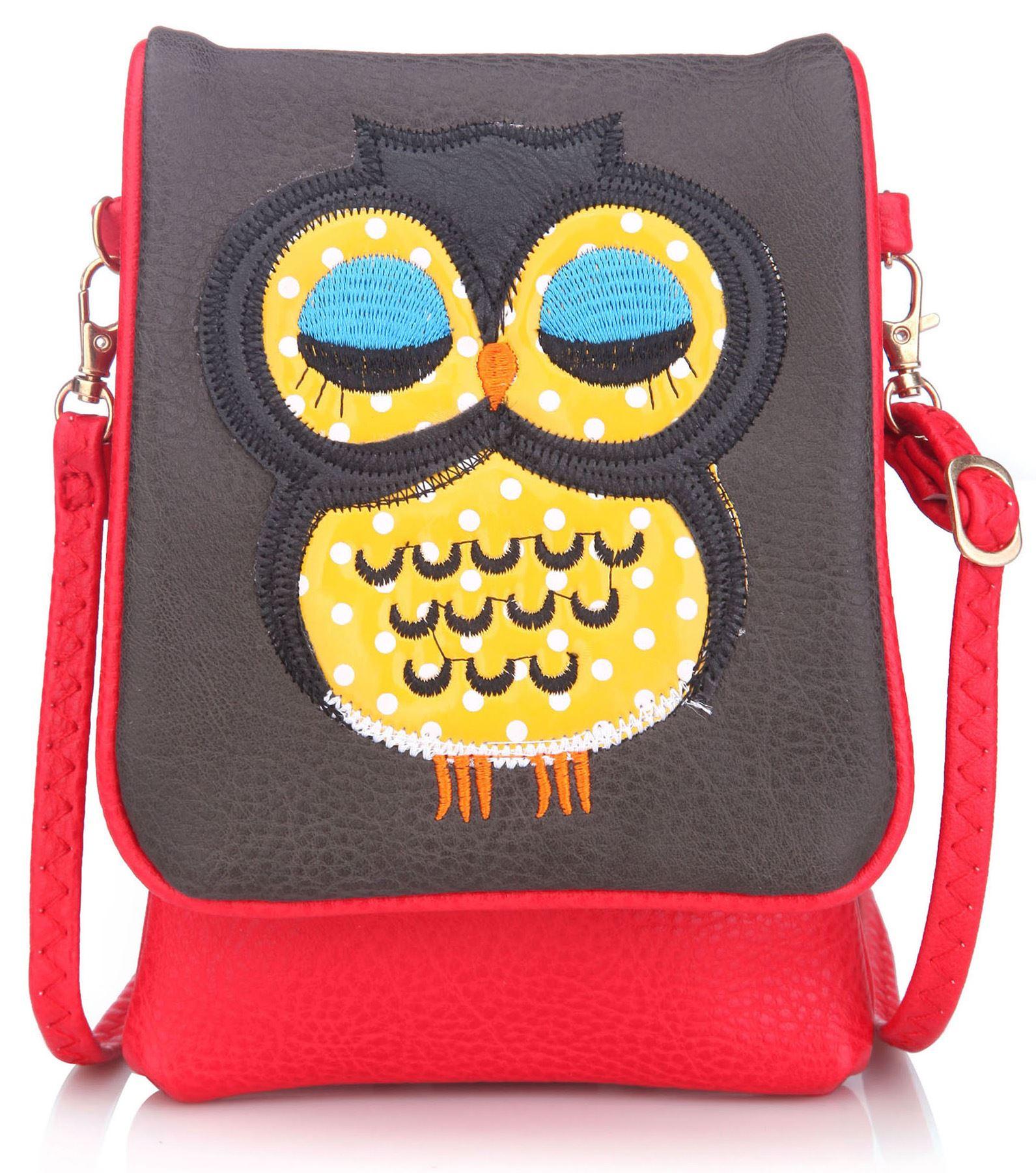 Big Handbag Shop Kinder Sleeping Eule Schultertasche Messenger Handytasche