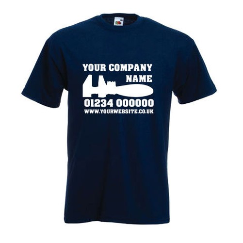 Customisable personalised plumbers plumbing central for Places to sell t shirts